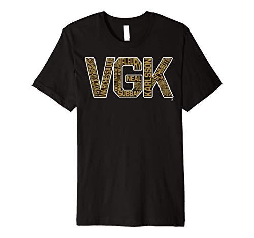 Marc-Andre Fleury Vgk Bubble Letters T-Shirt - Apparel