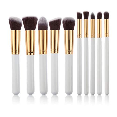 KEHUITONG PSWK 10 Kit de Pinceau de Maquillage PCS Porte-Brosse à pinceaux de Pinceau Soft Tinks Kit Touche à Oeil Touche Soft Natural-Synthetic Kit (Handle Color : G10 006)