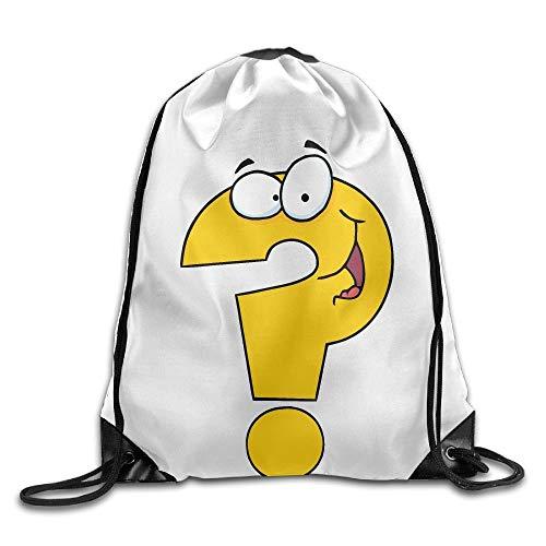 Lustige Fragezeichen Unisex Home Gym Sack Bag Reise Kordelzug Rucksack Tasche