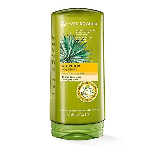 Yves Rocher PFLANZENPFLEGE HAARE nährende Spülung, Conditioner für geschmeidiges & seidiges Haar, 1 x Flacon 200 ml