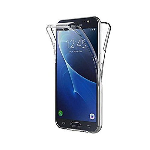 Mb Accesorios Samsung Galaxy Samsung J7 2016 Funda DE Silicona Delantera + Trasera Doble 100% Transparente