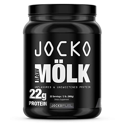 Jocko RAW Mölk - Unflavored Whey Isolate Protein Powder - Amino Acids and Probiotics - 31 Servings - 2 Pounds