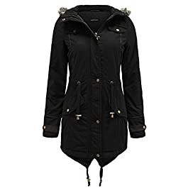 Brave Soul Ladies Fur Oversized Hood Military Fishtail Padded Parka Coat Jacket