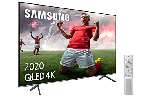 Samsung QLED 4K 2020 50Q64T - Smart TV de 50' con Resolución 4K UHD, con Alexa Integrada, Inteligencia Artificial 4K Wide Viewing Angle, Sonido Inteligente, Premium One Remote