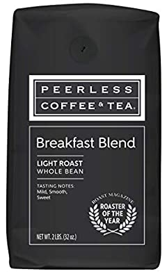 Peerless, Breakfast Blend, Light Roast Whole Bean Coffee, 2 Pounds