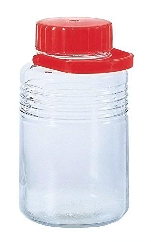 アデリア ガラス 保存容器 梅酒 果実酒瓶 中栓付き 5L クリア 7号 日本製 762