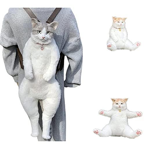 MUGUOY Bolsa De Gato De Simulación Hecha a Mano, Bolsa De Forma De Gato De Simulación 3d Que Parece Un Gato Real, Mini Mochila Con Cremallera De Animal, Bolsas De Mensajero De Viaje.