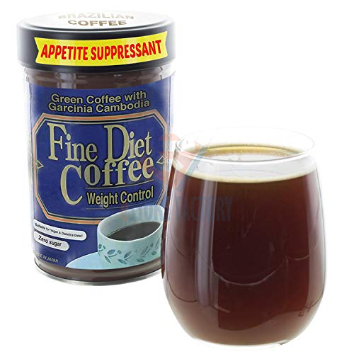 Dieetkoffie Gewichtsverlies - Instantdrank - met extract van groene koffiebonen - medium gemalen koffie - Afslankmiddelen - Eetlustremmer - Premium, Japan