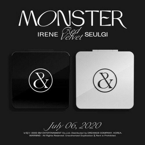 Red Velvet Irene&Seulgi 'Monster' 1st Mini Album Random Ver CD+72p Photo Book+16p Letra Book+2p Post+1p Card+1p Pôster dobrável no pacote + Adesivo/Cartão de garantia + Conjunto de cartão de mensagem + Trackin