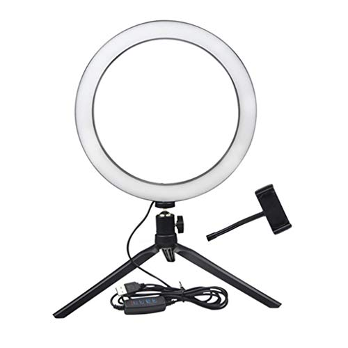 jieGorge LED Ring Fülllicht Lampe Selfie Kamera Telefon Studio Stativ Stand Video Dimmbar, Foto