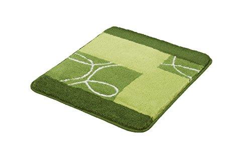 Kleine Wolke Badteppich Curly grün 55 x 65 cm