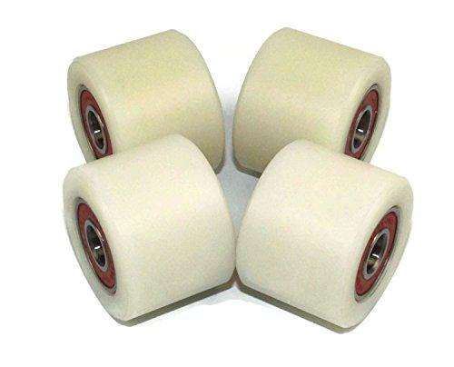 4Stück Nylon Polyamid Rollen 40mm Durchmesser 30mm breit 10mm Lager Präzise gefräßt in der EU (40–30–10)