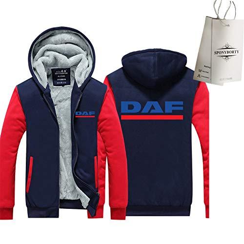 Martin Verdicken Plus Samt Kapuzenpullover D.A-F Drucken Strickjacke Warm Jacke Herren & Damen Beiläufig Sweatshirt Sport/D/XL