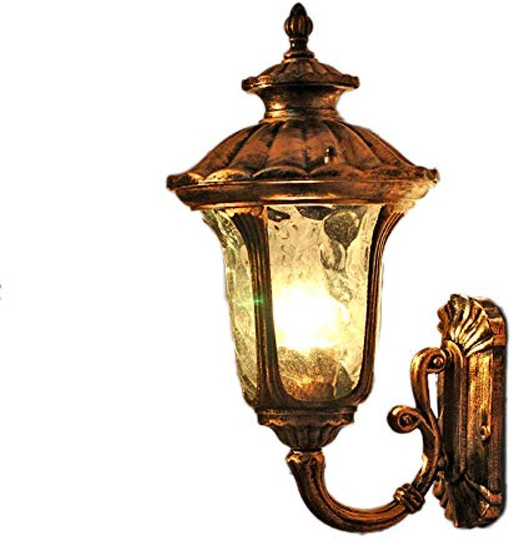 Zhang Ying ZY Europische Wasserdichte Auenwandlaterne Retro Bronze antike Wandleuchte Wandlampen für Gang Korridor Balkon Hof Tor Sicherheit Wandleuchte Lampe IP44 (Gre  Hhe 38 cm)