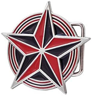 Red Black Nautical Celtic Star Belt Buckle Tattoo Cool