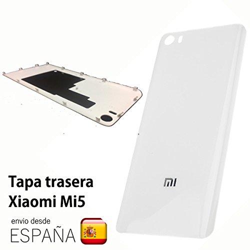 TAPA TRASERA cubre bateria plástico para XIAOMI MI5 color blanca ...