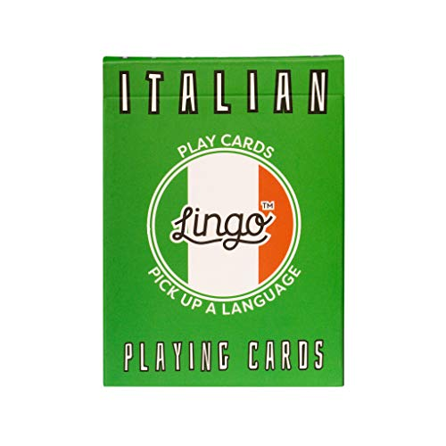Lingo Playing Cards   Language Learning Game Set   Fun Visual Flashcard Deck to Increase Vocabulary and Pronunciation Skills (Italian)