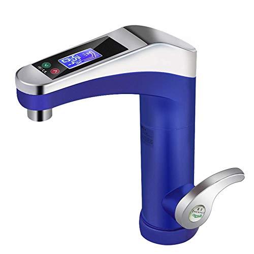 XHCP Led elektrischer Wasserhahn, 3500W Warmwasserbereiter, Haushalt Badezimmer Küche Heizungszubehör, Silber