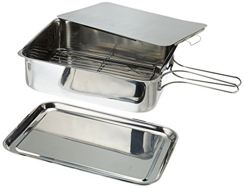 ExcelSteel Stainless Steel Stovetop Smoker, 14 1/2 X 10 1/2 X 4, Silver by ExcelSteel
