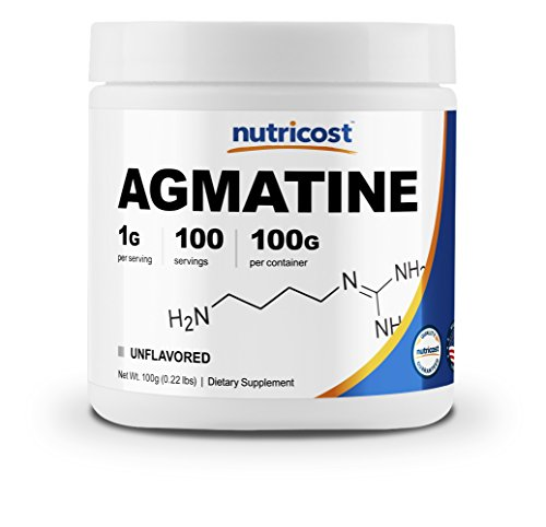 Nutricost Agmatine 100 Grams - Pure Agmatine 100 Servings (Agmatine Sulfate) - High Quality Powder