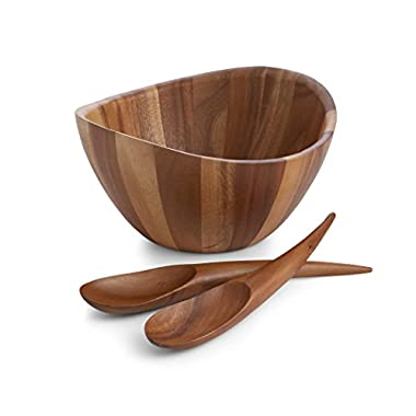 Nambe Gourmet Harmony 3 Piece Wooden Salad Set