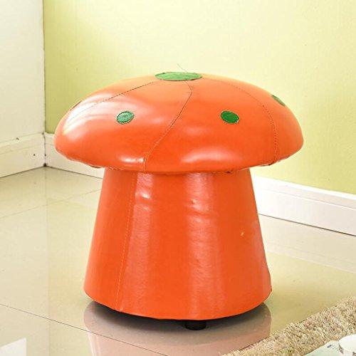 Sofa Hocker Xuan - Worth Having Orange Pilz Stil Ändern Seine Schuhe Hocker Cartoon Hocker Hocker (45 * 45 * 34 cm)