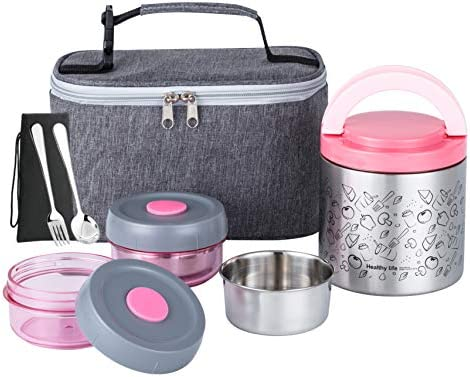 Lille Home Lunch Box Set An Vacuum Insulated Bento Snack Box Keeping Food Warm for 4 6 Hours product image