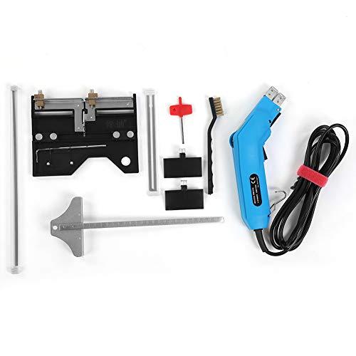 HEEPDD hetelmessenset, elektrische schuimsnijder, verwarmingsdraad-verwarmingsmeter, met opbergdoos voor schuimstofdoek, EU-stekker, 220 V