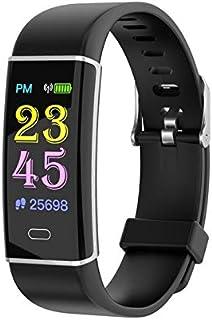 LINGJIA Pulsómetros Pulsera Inteligente Monitor De Frecuencia Cardíaca De Presión Arterial Ip67 Impermeable Sport Fitness Tracker Reloj De Banda Inteligente Negro