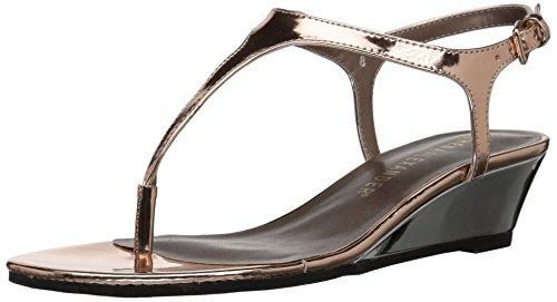 Athena Alexander Women's Lunna Wedge Sandal, Rose Gold, 5 M US