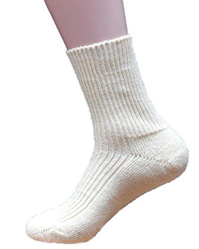 Hirsch Natur Socken mit Plüschsohle, Farbe Natur,, 70% Wolle(kbA) 30% Seide (47/48)