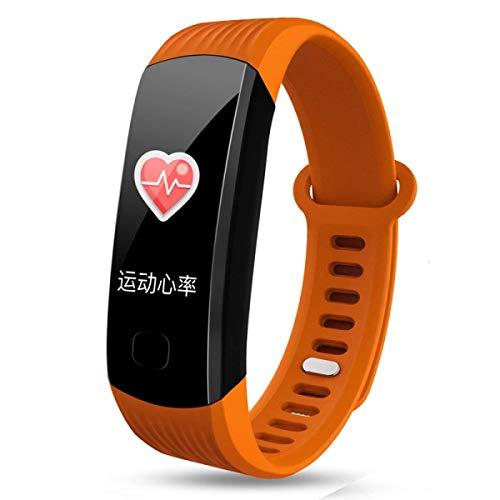 Eeayyygch KPulsmesser Smart-Armband Herzfrequenz Blutdruck Farbe Wasserdicht Sport Schrittzähler Schlaf Überwachung Tisch Sex SexyPulsmesser, C