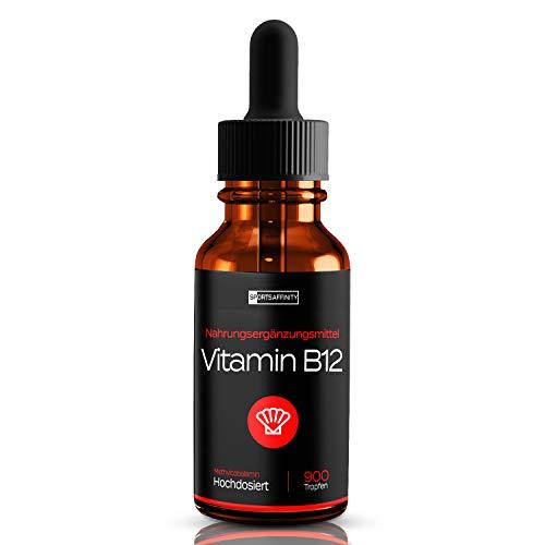 Vitamin B12 Tropfen Hochdosiert - 500µg pro Tagesdosis - Beide Aktivformen [Methylcobalamin & Adenosylcobalamin] – 100{43cdea4731f2da354b9ad3d177a9f8f1c319f4ccd03bf15ad1da736003895a78} vegetarisch - 1700 Cobalamin Tropfen - 50ml