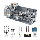 Orion Motor Tech Drehmaschine Metalldrehmaschine 8x14' 600W Mini Präzisions Metalldrehmaschine 210...