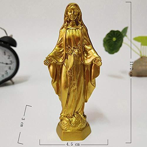 LDCP Golden Jesus Statue Madonna Figurines Virgen María Estatuas Decoraciones navideñas para el hogar Adornos navideños 1 Pieza, B