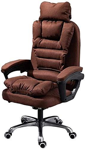 Sedia da ufficio Scorrimento della sedia da ufficio Sedia da ufficio Sedia moderna Simplicity Tessuto Sedia per computer 155 ° reclinabile Sedie confortevoli Pranzo Pranzo Break Poggiatesta Staccabile