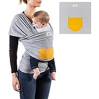 Qigoba- Fular portabebés 100% orgánico- Amplio tamaño - Porteo seguro y ergonómico durante la lactancia