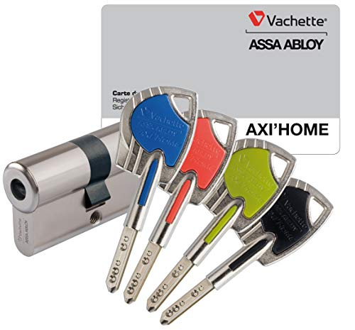 Vachette 67101 AXIHOME FCS/SC Cylindre, Nickel, 30 x 30 mm