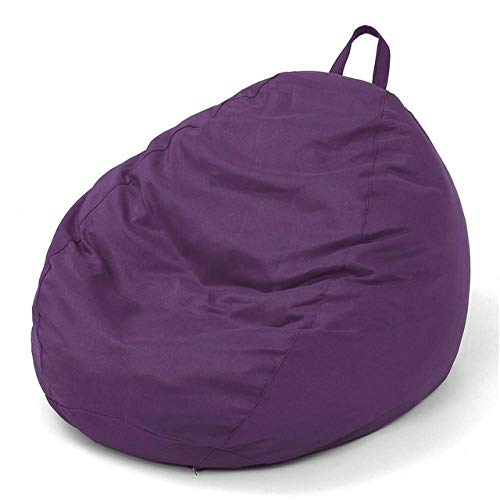 LKU sofakruk 13 kleuren Lazy zitzak bankovertrek, geen stoel, geen bekleding, linnen, violet