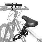 ConBlom Asiento infantil para bicicleta de montaña, asiento delantero para niños, asiento de bicicleta portátil con manillar, fácil de montar y desmontar, asiento delantero para niños de 2 a 6 años