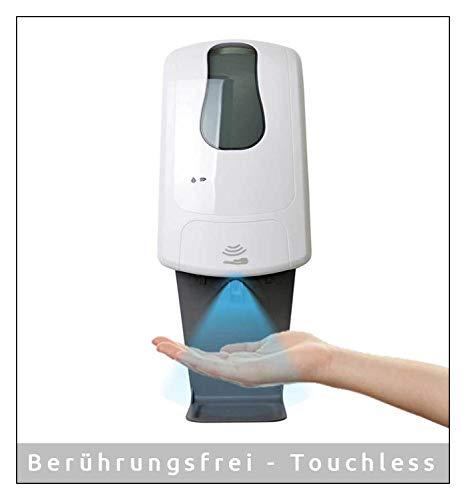 MyMAXXI | Desinfektionsmittelspender 1000ml Q inkl. 3 x 1L Desinfektionsmittel Sensor automatisch Wandmontage | touchless disinfection | Händedesinfektion Spender Desinfektion Hand Hygienespender