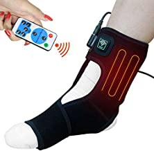 sticro Infrared Heated Foot Ankle Brace Wraps for Planters Fasciitis or Achilles Tendinitis Pain Relief, 4 Auto Off Timers Moist Heat Heating Pad for Men Women Arthritis Injury