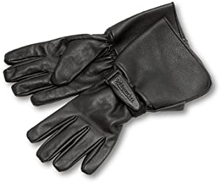 Milwaukee Motorcycle Clothing Company Men's Leather Gauntlet Riding Gloves (Black, Small)