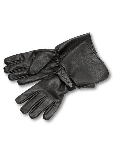 Milwaukee Motorcycle Clothing Company Men's Leather Gauntlet Riding Gloves (Black, XX-Large)