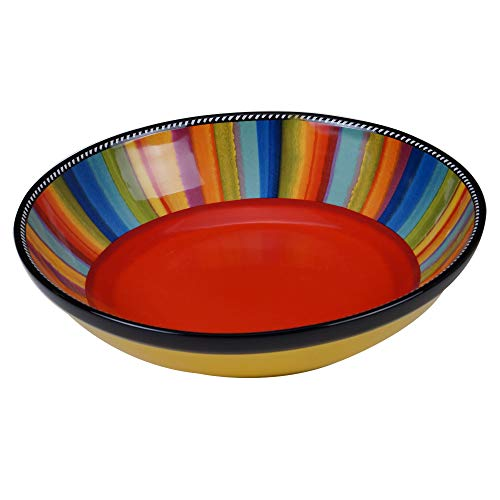 Certified International Sierra 13' Serving/Pasta Bowl, 144 oz, Multicolored