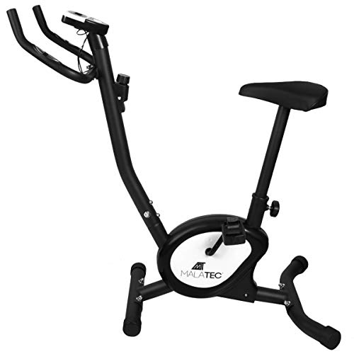 Stationäres Fahrrad Heimtrainer Trainer Indoor Fitness Bicycle Advancedmit LCD-Display Fitness-Fahrrad Übung-weiß/schwarz 7625, Farbe:Schwarz