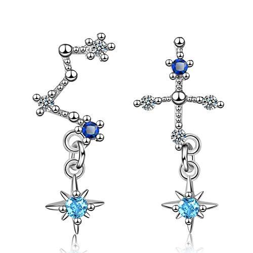 Shulishishop Piercing Pendientes Pendientes de Diamantes Zircon Pendientes Pendientes de Brillantes Suerte Pendientes Encantador Pendientes