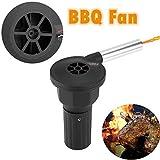 Zunate BBQ Fan,Grill Fön BBQ Barbecue grillanzünder Fan,schneller und einfacher zu beginnen,Helfen Staub und Glanz im Vergleich zu Handgebläse zu reduzieren, Schwarz