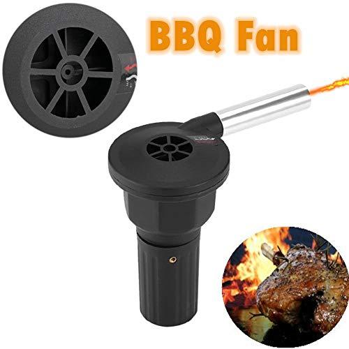 Zunate BBQ fan, föhn BBQ barbecue grillaansteker, sneller en eenvoudiger te starten, helpt stof en glans te verminderen in vergelijking met handblazer, zwart