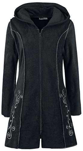 Innocent Lange Kapuzenjacke Embroidered Fleece Hood Schwarz XL
